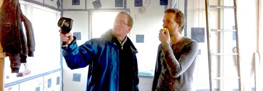 Martin og Mads tester kameraet