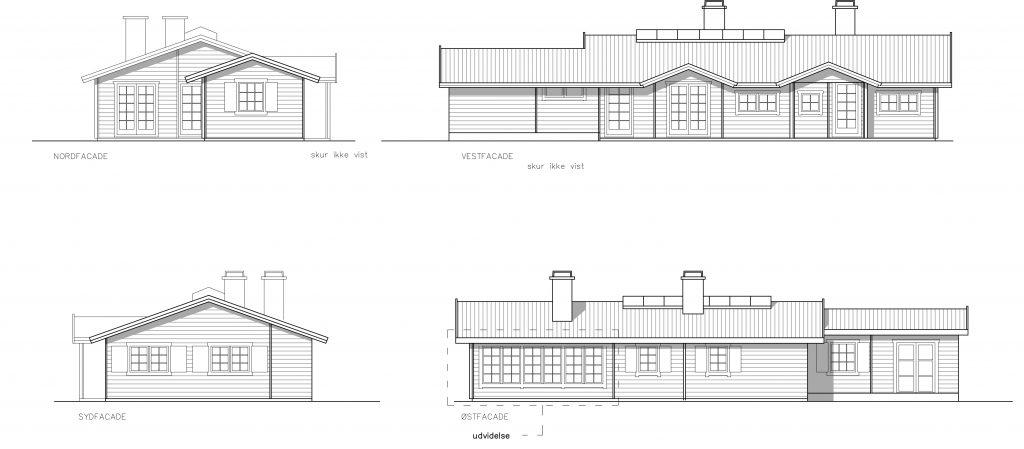 Tilbygning til sommerhus: opstalter af huset efter udvidelse