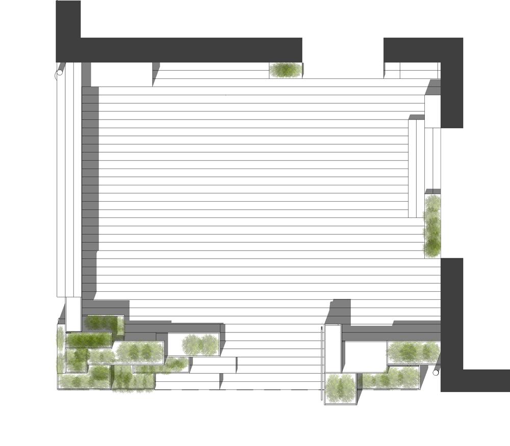 plan tegning af terrasse